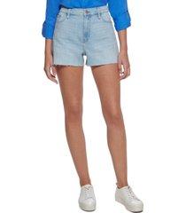 calvin klein jeans raw-hem denim shorts