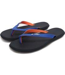 sandalia azul-naranja colore