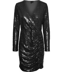 paljettklänning vmriver l/s sequins short dress