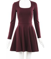 alexander mcqueen wool skater dress purple sz: xs
