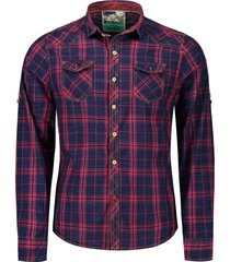 adjustable sleeve flap pockets plaid shirt
