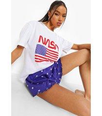 nasa pyjama set met shorts, blue
