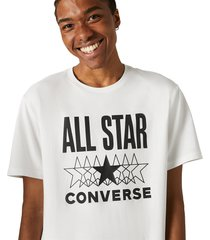 converse camiseta de manga corta all star white