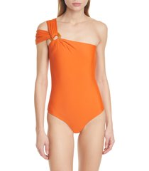 women's johanna ortiz one-shoulder one-piece swimsuit