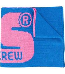 gcds mini light blue scarf