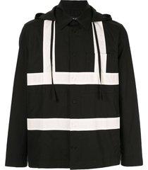 craig green hooded button shirt - black