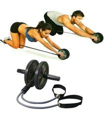 rueda para ejercicio abdominal body sculpture con cuerda elástica bb-705 - negro
