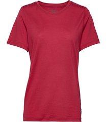 oslo wool tee t-shirts short-sleeved röd bergans