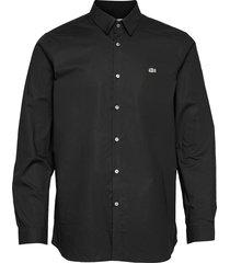 mens shirt skjorta casual svart lacoste