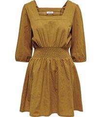 jurk smock in de taille
