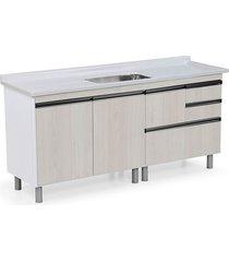 gabinete para cozinha 180cm mdp 15mm coliseu palissandro ártico 174,5x69,5x49,5cm - rorato - rorato