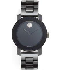 women's movado bold ceramic bracelet watch, 36mm