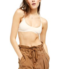 free people stella scuba bralette, size large in nude at nordstrom