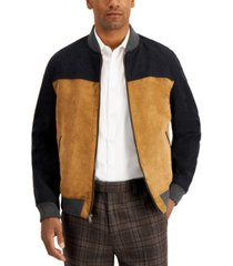 tasso elba men's mixed-media jacket, created for macy's