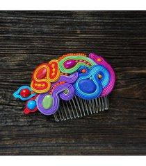 bajkowy grzebyk do włosów soutache