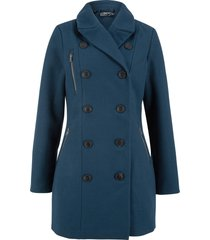giacca lunga in simil lana stile trench (blu) - bpc bonprix collection