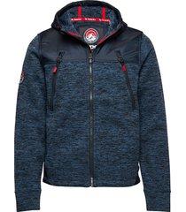 mountain ziphood hoodie trui blauw superdry