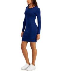 bar iii bodycon long-sleeve mini dress, created for macy's