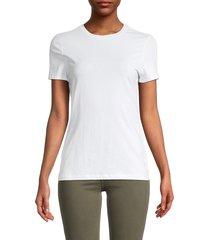 saks fifth avenue women's crewneck t-shirt - pastel hibiscus - size xs