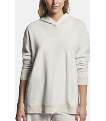 relaxed hooded sweat top