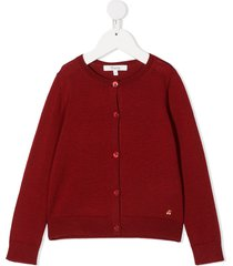 bonpoint embroidered cherry cardigan