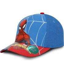 gorra spiderman marvel original azul y rojo oc caps