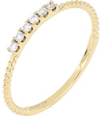 bony levy icons twisted diamond stacking ring, size 7.5 in yellow gold at nordstrom