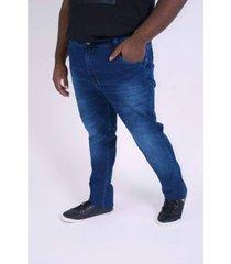 calça jeans skinny plus size masculina - masculino