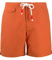 orlebar brown standard mid-length swim shorts - orange