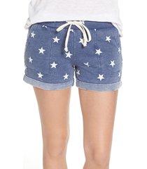 women's alternative camo lounge shorts, size x-large - blue