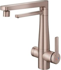 misturador monocomando para cozinha mesa com purificador vitalis cobre escovado - 00808969 - docol - docol