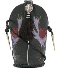 jessie western mini bucket bag - black