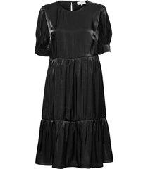 crcecilie dress knälång klänning svart cream