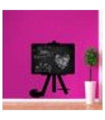 adesivo de lousa para parede artes - p 50x39cm