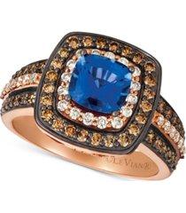 le vian ceylon sapphire (1 ct. t.w.) & diamond (7/8 ct. t.w.) ring in 14k rose gold