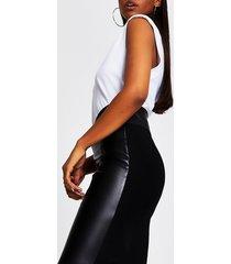 river island womens black pu corset pencil skirt