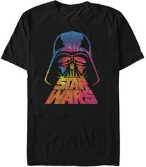 star wars men's classic tie dye darth vader helmet short sleeve t-shirt