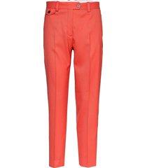 fine twill cigarette pant pantalon met rechte pijpen oranje calvin klein