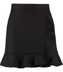 red valentino ruffle detail mini-skirt