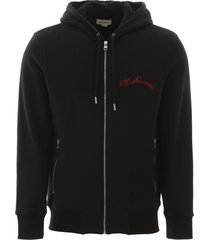 alexander mcqueen zip-up hooded sweatshirt