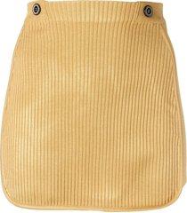 gcds ribbed mini skirt - gold