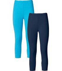 leggings a pinocchietto (pacco da 2) (blu) - bodyflirt