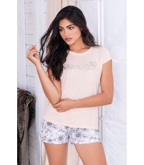 pijama mujer conjunto short manga corta 11546