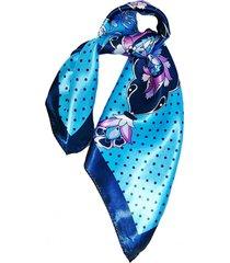 pañuelo bandana flores azul viva felicia