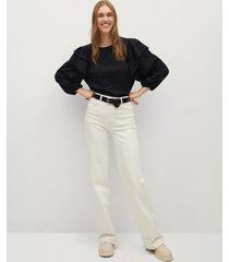 getextureerde blouse met ruches