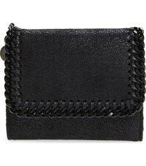women's stella mccartney falabella faux leather shaggy deer wallet -
