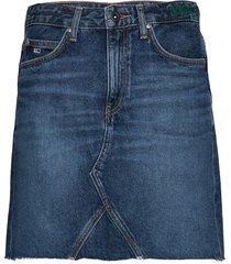 tj short denim skirt kort kjol blå tommy jeans