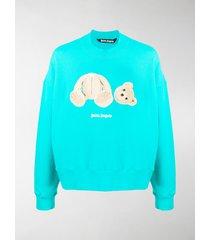 palm angels bear crew neck sweatshirt