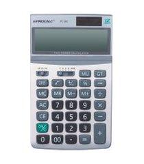 calculadora de mesa procalc pc263 12 dígitos solar cinza