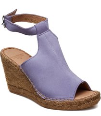 wayfarer high wedge sandalette med klack espadrilles lila royal republiq